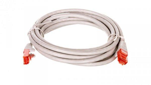 Kabel krosowy patchcord U/UTP kat.6 CCA szary 3m 68409