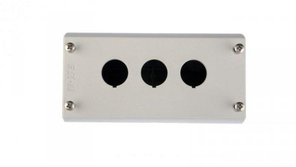 Obudowa kasety 3-otworowa 22mm szara IP67 M22-I3 216538