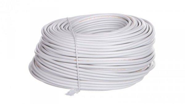 Przewód mieszkaniowy H03VV-F (OMY) 3x0,5 żo biały /100m/