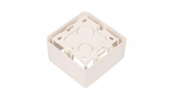 MOSAIC Puszka natynkowa pojedyncza /2moduły/ biała 080281
