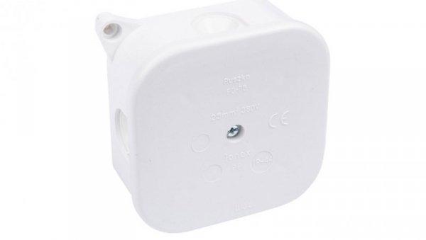 Puszka n/t hermetyczna pusta 85x85x40mm IP42 bez wkładu biała PO 75p 83011006