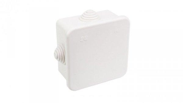 Puszka n/t hermetyczna pusta 80x80x42mm IP44 biała 0242-00