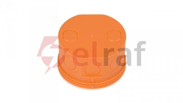 Puszka podtynkowa 80mm z pokrywą pomarańczowa Z 80KF 33073008 /30szt./