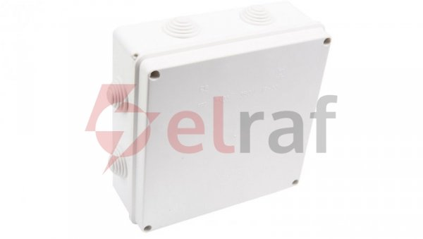 Puszka odgałęźna z zaciskami 5-torowa dla Cu do 35mm2 IP55 biała 196x196x78 PK-8 0232-00