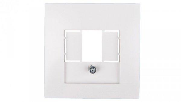 Berker/B.Kwadrat Element centralny gniazda TAE i głośnikowego biały 5310338989