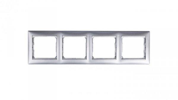 VALENA Ramka poczwórna pozioma aluminium tworzywo 770154