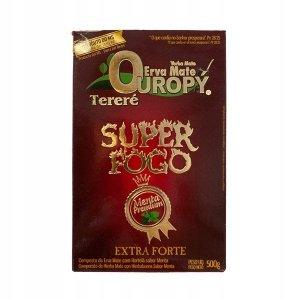 Yerba Mate Ouropy Super Fogo Menta Premium 500g
