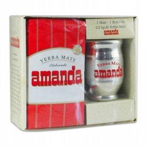 Zestaw do Yerba Mate Matero + Bombilla + Amanda II