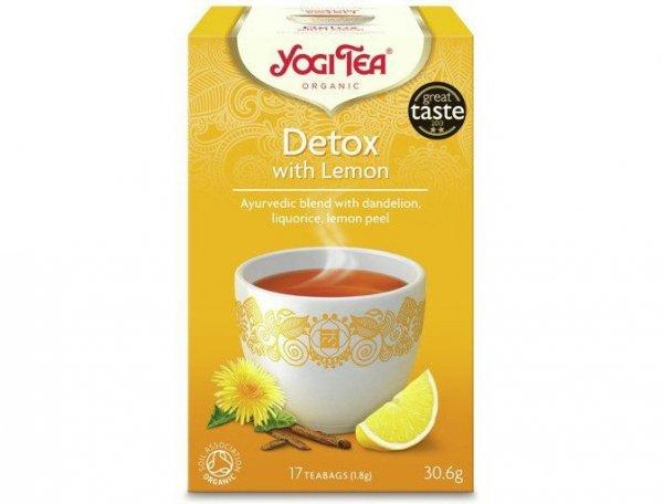 Herbata Detox z Cytryną Bio 17x1,8g Yogi Tea