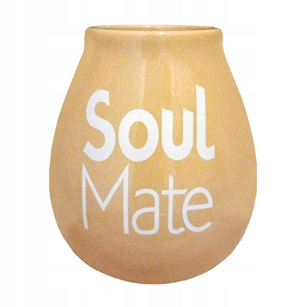 Matero Ceramiczne Beżowe Soul Mate do Yerba Mate