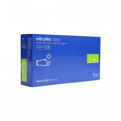 NITRYLEX RĘKAWICZKI NITRYLOWE NIEBIESKI BEZPUDROWE 100 SZT. S