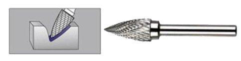 FREZ Z WĘGLIKA SPIEKANEGO ŁUKOWO-STOŻKOWY 6mm / 6mm G0616/C