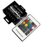 Kontroler sterownik led RGB radiowy 20A 240W 12/24V + pilot RF 20 przycisków LUX06125