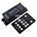 Ściemniacz LED radiowy 25A 300W 12/24V DC + pilot RF 14 przycisków LUX06050