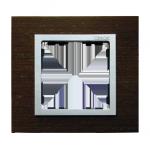 Ramka 1- krotna wenge / aluminium mat