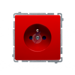 Gniazdo wtyczkowe pojedyncze z uziemieniem z przesłonami torów prądowych czerwony 16A