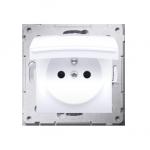 Gniazdo wtyczkowe pojedyncze do wersji IP44 - z uszczelką do ramek Premium - klapka w kolorze pokrywy do ramek Premium (moduł) 1