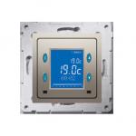 Regulator temperatury z wyświetlaczem (czujnik wewnętrzny) złoty mat, metalizowany