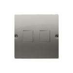 Pokrywa gniazd teleinformatycznych na Keystone płaska podwójna satynowy, metalizowany