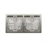 Ramka 2- krotna satynowy, metalizowany