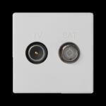 Gniazdo antenowe K45 TV-SAT częstotliowść:5MHz÷2400MHz 45×45mm czysta biel