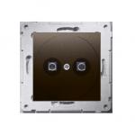 Gniazdo ekwipotencjalne do ramek Nature do ramek Premium (moduł) zaciski śrubowe 2.5, 4, 6 mm2, brąz mat, metalizowany