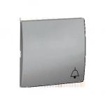 Klawisz pojedynczy do łączników i przycisków aluminiowy, metalizowany