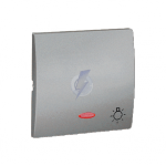 Klawisz pojedynczy z oczkiem do łączników i przycisków podświetlanych aluminiowy, metalizowany