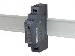 HDR-15-24 wejście 85-264V AC, wyjście 24V DC / 0,63A / 15,2W, montaż na szynie DIN, regulacja napięcia wyjściowego 21,6 - 29V DC