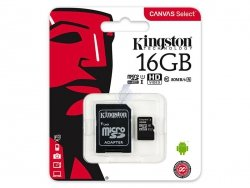 KARTA SD 16GB Karta mikro SDHC 16GB Kingston UHS-1 + adapter SD