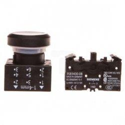 Przycisk sterowniczy 22mm czarny 1Z z samopowrotem 3SB3202-0AA11