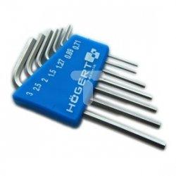 Klucze sześciokątne precyzyjne CrV 7 elementów HT1W800