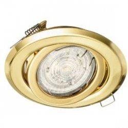 Oprawa sufitowa wpuszczana regulowana BETA złota (stalowa) LUX01223