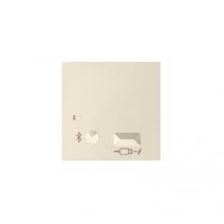 Pokrywa do odbiornika Bluetooth i ładowarki USB kremowy