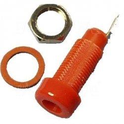 Gniazdo panelowe 4mm GL5-R 10A, czerwone    SCI