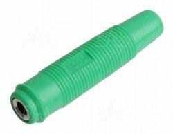 Gniazdo 4 mm na przewód GP430-GN 24A zielony
