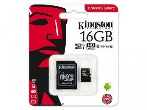 KARTA SD 16GB Karta mikro SDHC 16GB Kingston UHS-1 + adapter SD