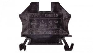 Złączka szynowa 2-przewodowa 2,5mm2 czarna EURO 43408BK