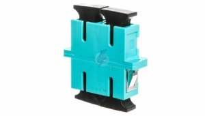 Adapter SC/SC duplex MM OM3, ceramiczna ferrula, błękitny DN-96005-1