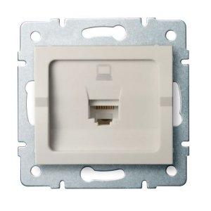 Gniazdo komputerowe pojedyncze (RJ45Cat 5e Jack) LOGI 02-1390-003 kr 25167
