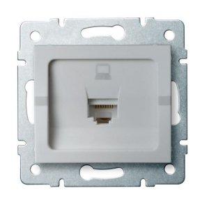 Gniazdo komputerowe pojedyncze (RJ45Cat 6 Jack) LOGI 02-1400-043 sr 25227