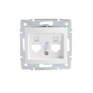 Adapter gniazda RJ45 DOMO 01-1419-002 bi 25930