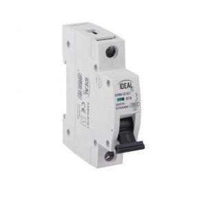 Wyłącznik nadmiarowo-prądowy, 1P KMB6-C63/1 27253
