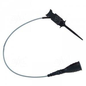 Chwytak bezp. pazurkowy 1N-0014-BK + przewód gn. 2mm CAT II 300V, 2A czarny