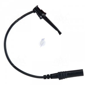 Chwytak bezp. haczyk. 1N-0022-BK + przewód gn. 4mm CAT III 600V, 5A czarny
