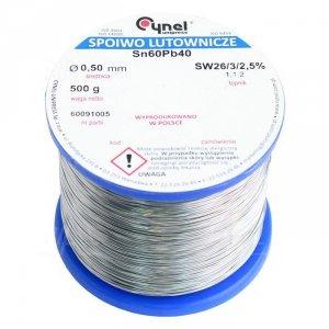Cyna-spoiwo LC60 0.50/0.5 Sn60Pb40 0.5mm/0,5kg Cynel
