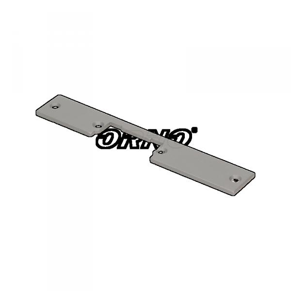 Szyld prosty, symetryczny, krótki, niklowany,159mm