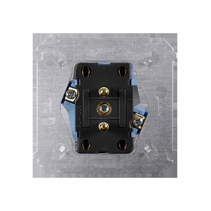 Gniazdo wtyczkowe podwójne z uziemieniem (mechanizm) 16A 250V, zaciski śrubowe,
