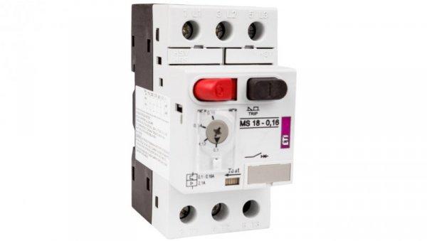 Wyłącznik silnikowy 3P 0,03kW 0,1-0,16A MS18 004600340