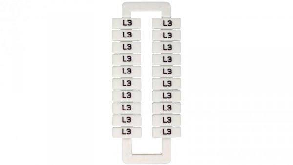 Oznacznik do złączek szynowych 2,5-70mm2 /L3/ biały 43192 (20szt.)